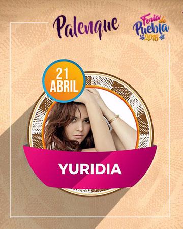 Yuridia en el Palenque Feria Puebla 2018