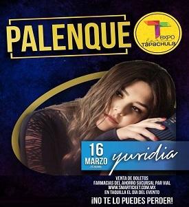 Yuridia en el Palenque Tapachula 2018