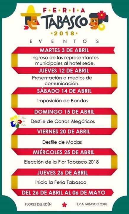 Actividades preferia de la Feria Tabasco 2018