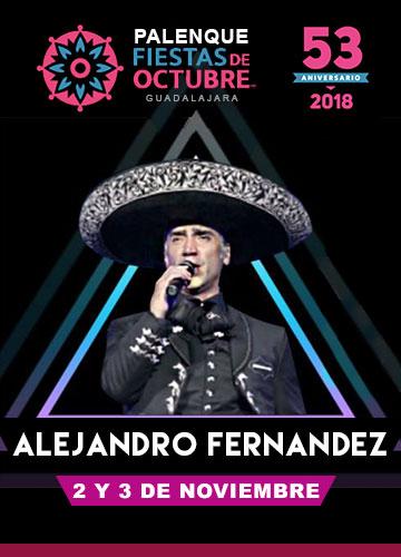 Alejandro Fernandez en el Palenque Fiestas de Octubre 2018