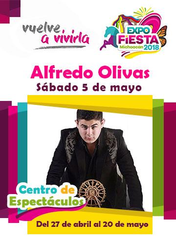 Alfredo Olivas en la Expo Fiesta Michoacan 2018
