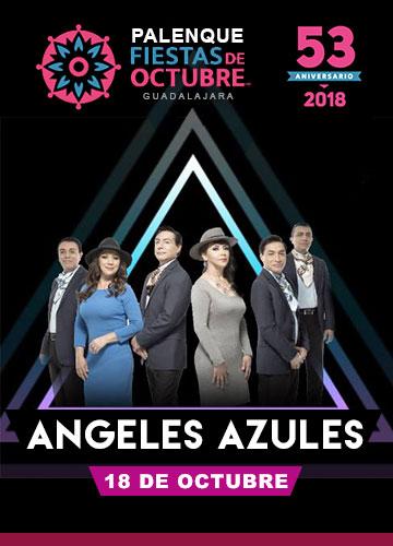 Los Angeles Azules en el Palenque Fiestas de Octubre 2018