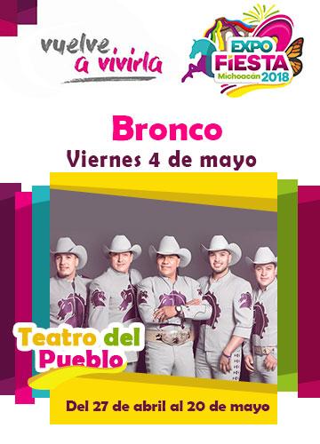 Bronco en la Expo Fiesta Michoacan 2018