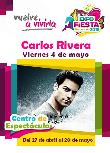 Carlos Rivera en la Expo Fiesta Michoacan 2018