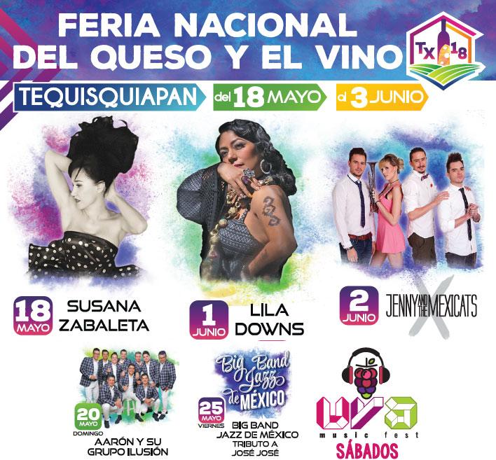 Cartelera Feria Nacional del Queso y el Vino 2018