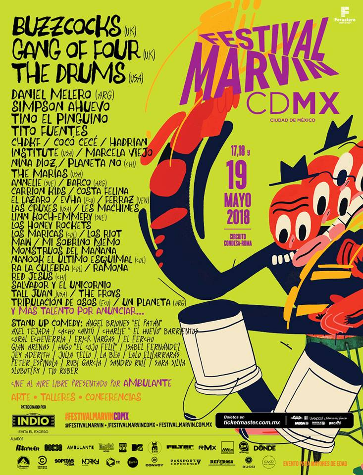 Cartelera Festival Marvin 2018