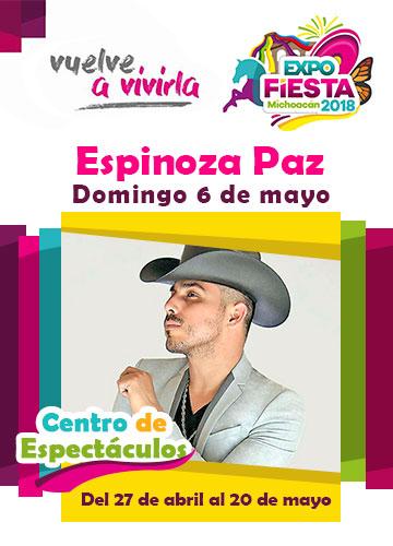 Espinoza Paz en la Expo Fiesta Michoacan 2018