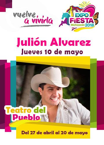 Julion Alvarez en la Expo Fiesta Michoacan 2018