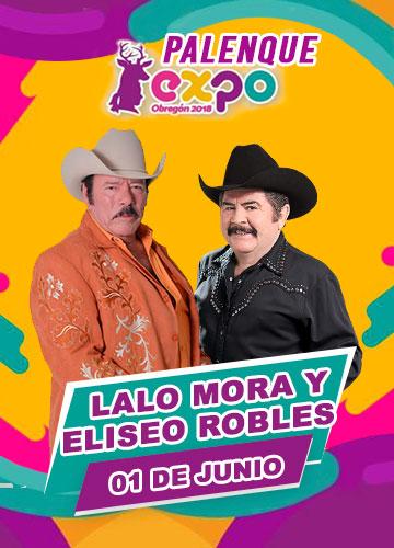 Lalo Mora y Eliseo Robles en Expo Obregon