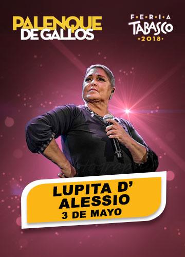 Lupita D'Alessio en el Palenque de la Feria Tabasco 2018
