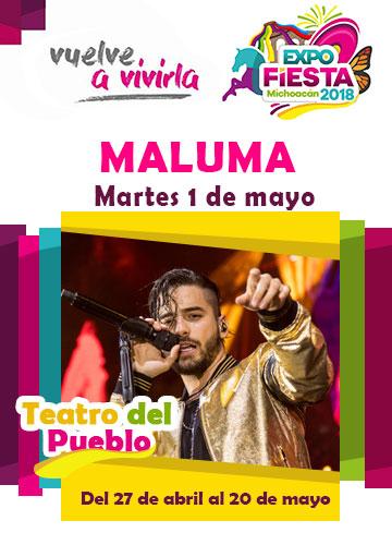 Maluma en la Expo Fiesta Michoacan 2018