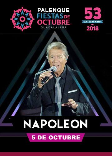 Napoleon en el Palenque Fiestas de Octubre 2018