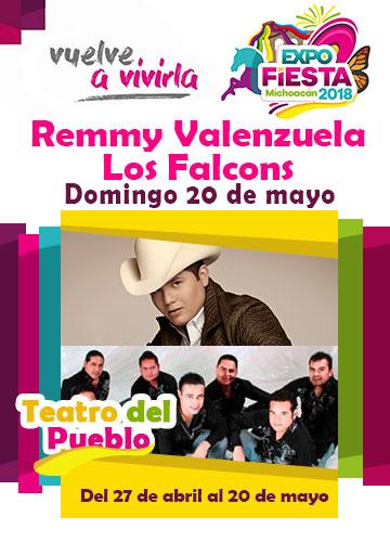 Remmy Valenzuela en la Expo Fiesta Michoacan 2018
