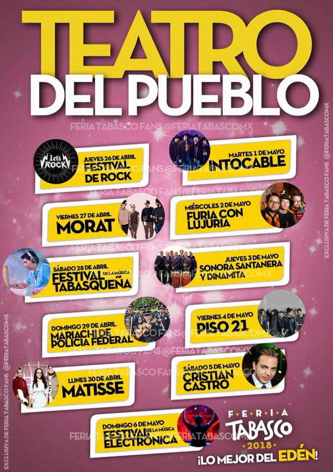 Elenco Teatro del Pueblo Feria Tabasco 2018