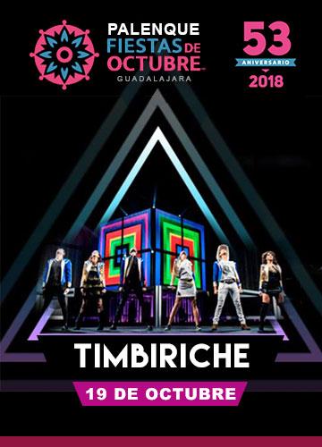 Timbiriche en el Palenque Fiestas de Octubre 2018