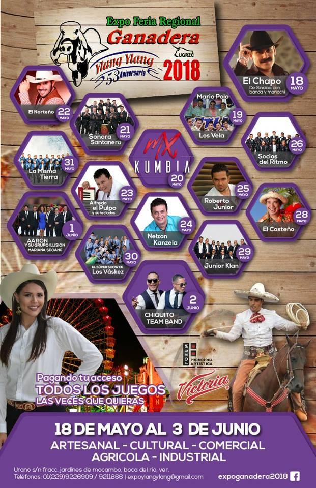 Cartelera Feria Ganadera Ylang Ylang 2018