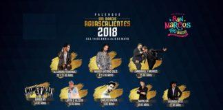 Cartelera Palenque Aguascalientes 2018