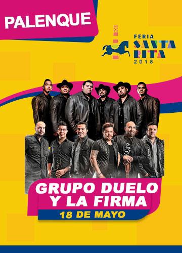 Duelo y La Firma en el Palenque Feria Santa Rita 2018