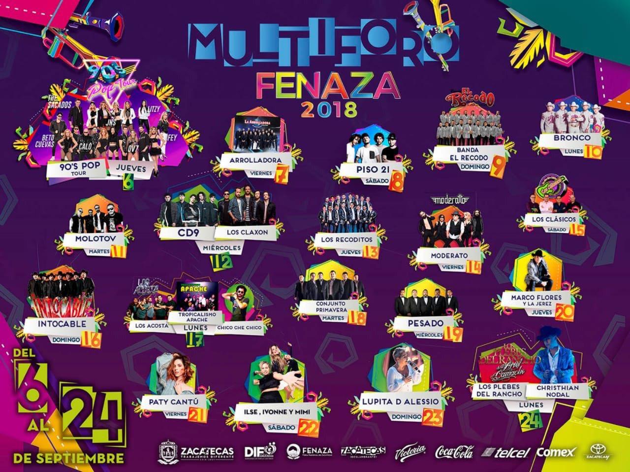 Cartelera Multiforo Fenaza 2018