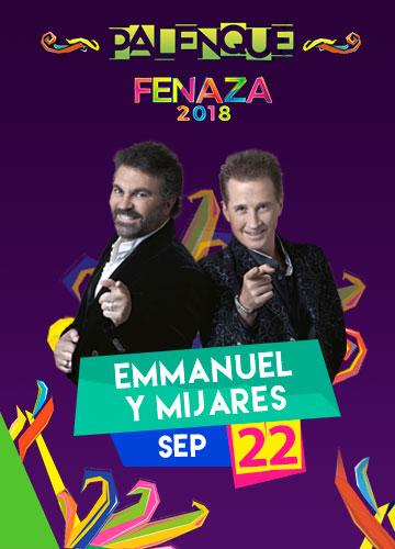 Emmanuel y Mijares en el Palenque FENAZA 2018