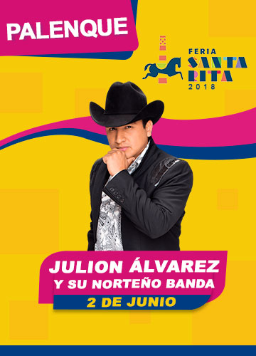 Julion Alvarez en el Palenque Feria Santa Rita 2018