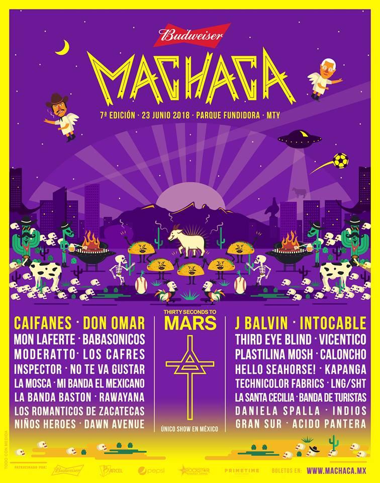 Artistas en el Machaca Fest 2018