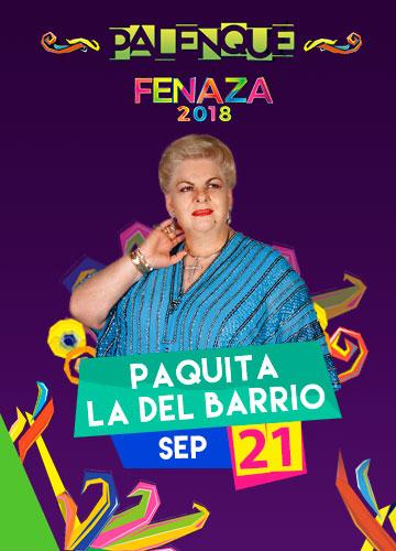 Paquita la del Barrio en el Palenque FENAZA 2018