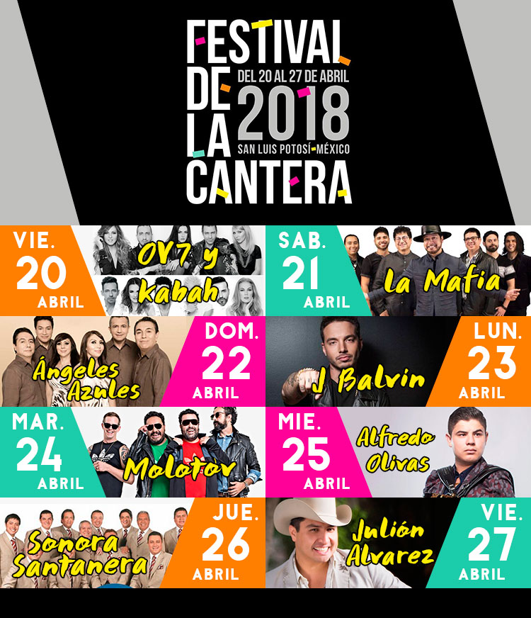 Cartelera Festival de la Cantera 2018