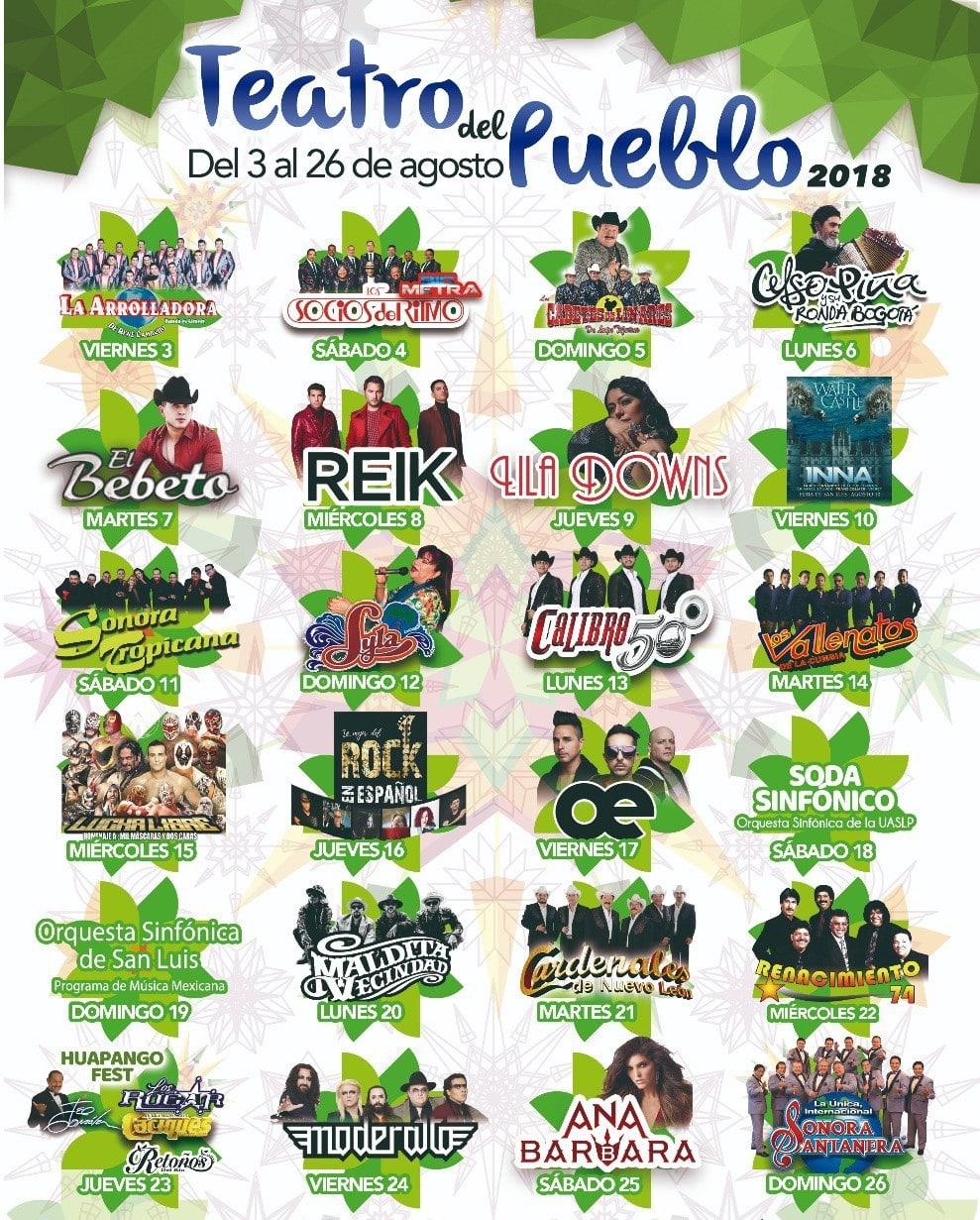 Programa Teatro del Pueblo FENAPO 2018