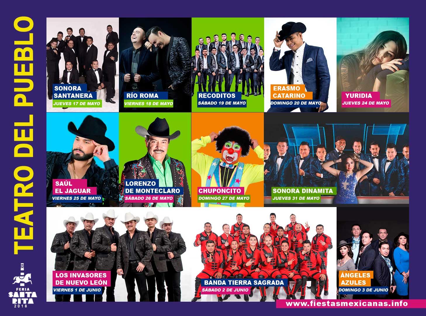 Teatro del Pueblo Feria Santa Rita Chihuahua 2018