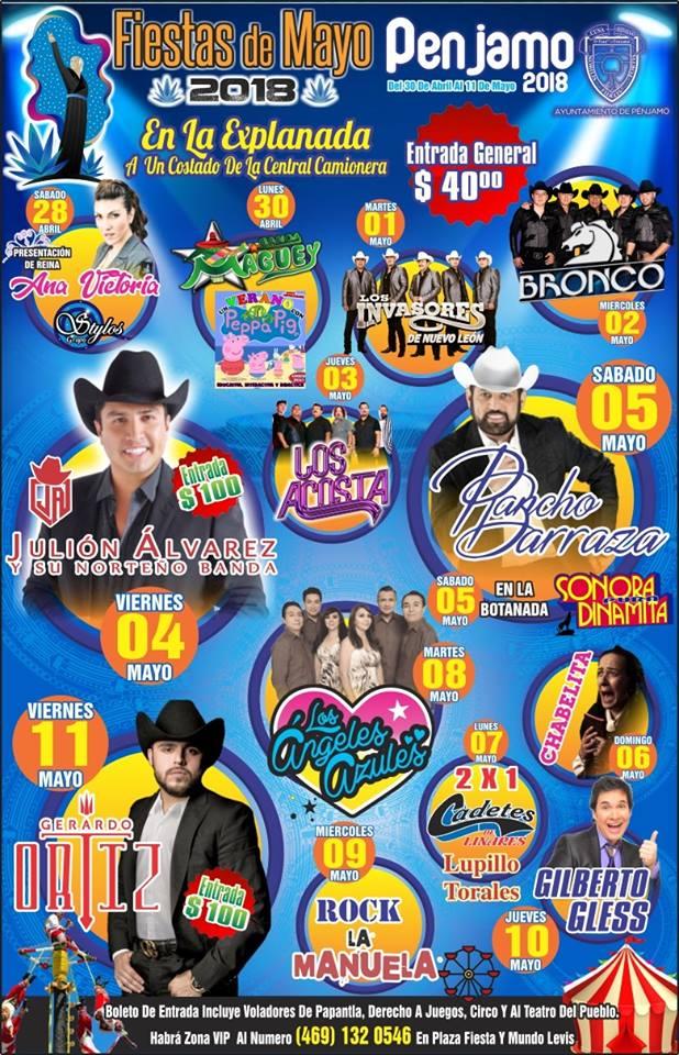 Teatro del Pueblo Fiestas de Mayo Penjamo 2018