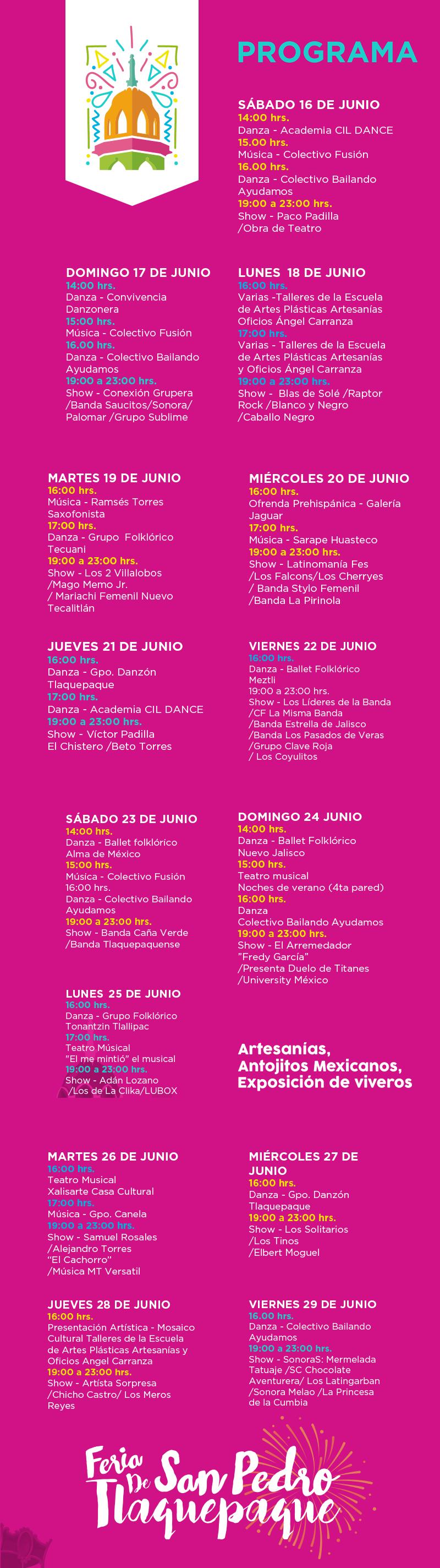 Programa Feria San Pedro Tlaquepaque 2018