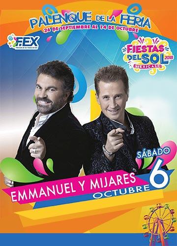 Emmanuel y Mijares en el Palenque Mexicali 2018