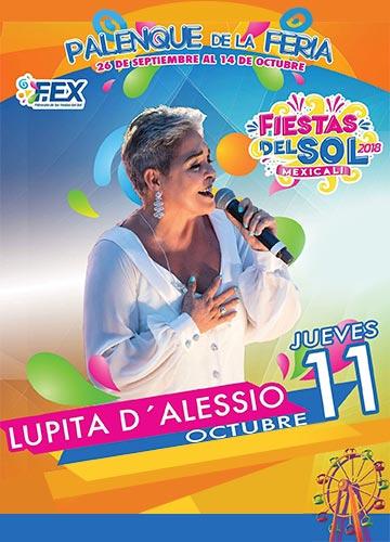 Lupita D'Alessio en el Palenque Mexicali 2018