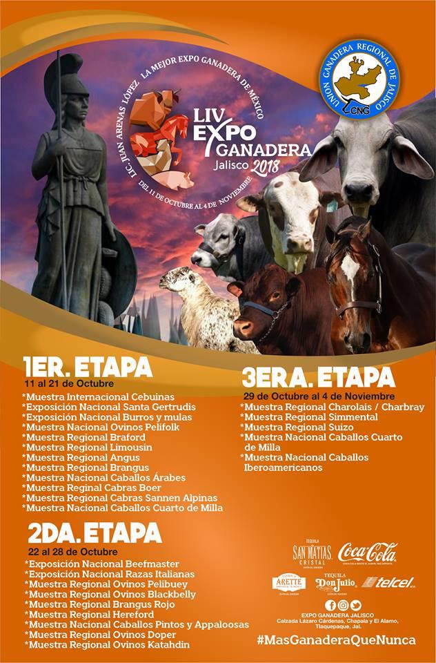 Programa y Eventos de la Expo Ganadera Guadalajara 2018