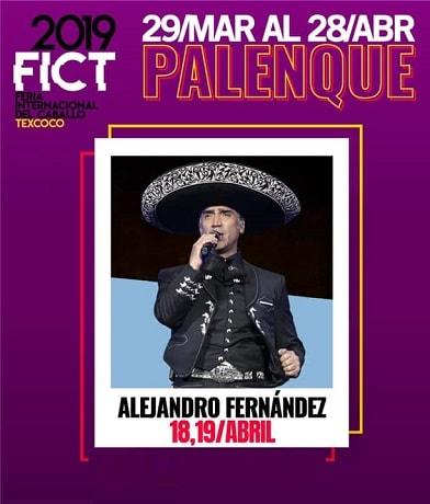 Alejandro Fernandez en el Palenque Texcoco 2019