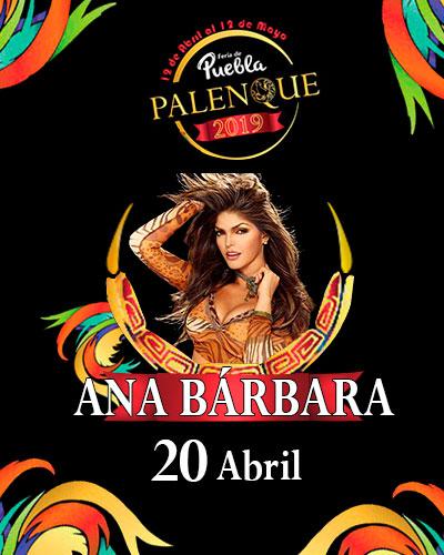 Ana Barbara en el Palenque de Puebla 2019