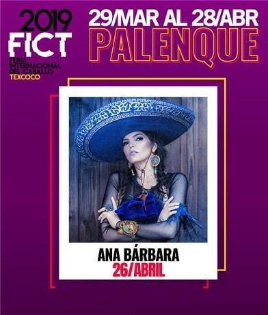 Ana Barbara en el Palenque Texcoco 2019