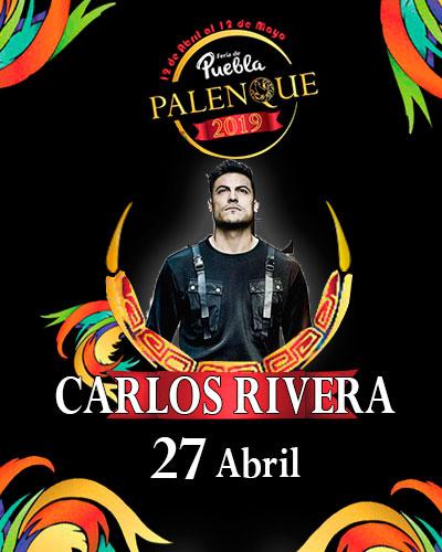 Carlos Rivera en el Palenque de Puebla 2019