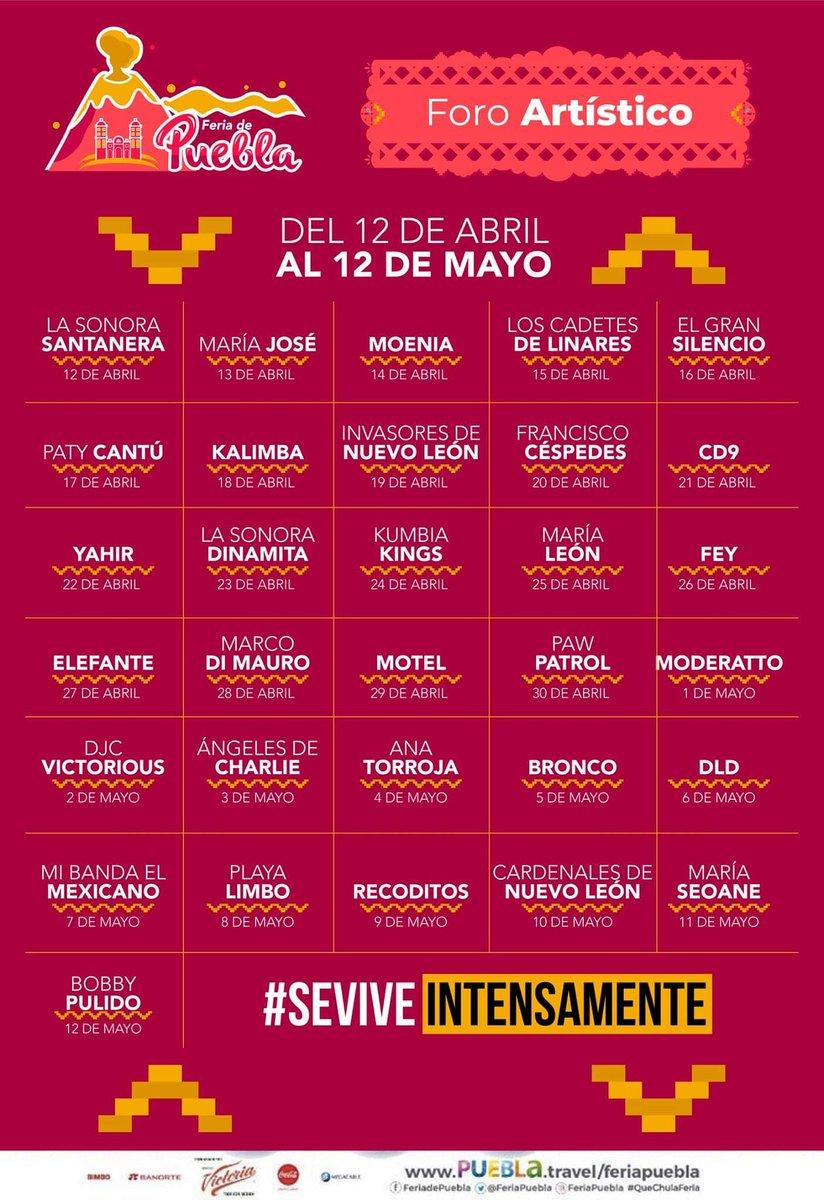Foro Artístico de la Feria Puebla 2019