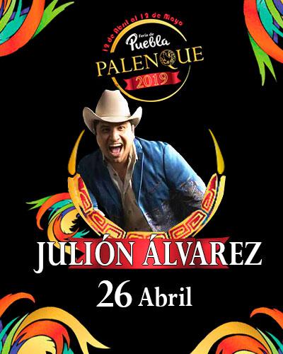 Julion Alvarez en el Palenque de Puebla 2019