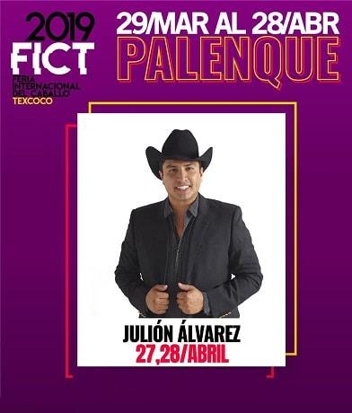 Julion Alvarez en el Palenque Texcoco 2019