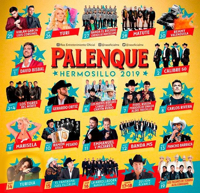 Cartelera Palenque Hermosillo 2019