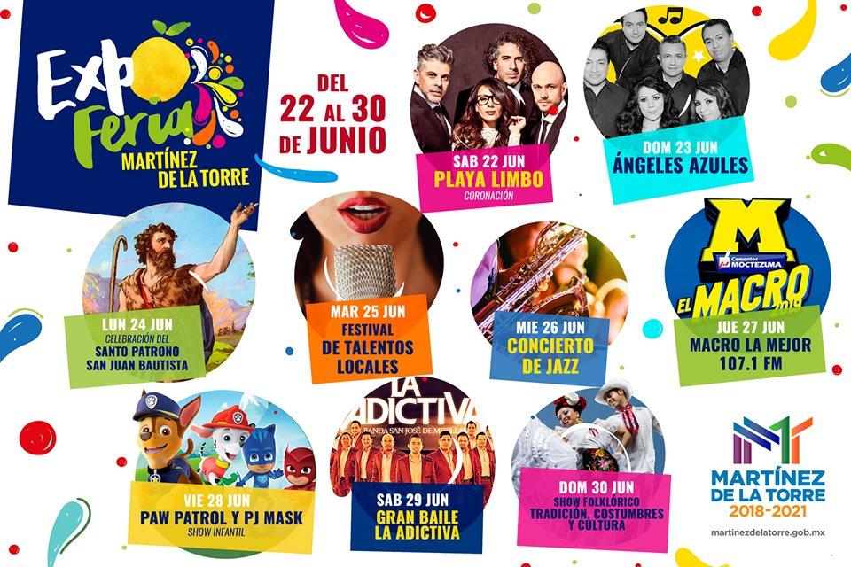 Cartelera de la Feria Martinez de la Torre 2019