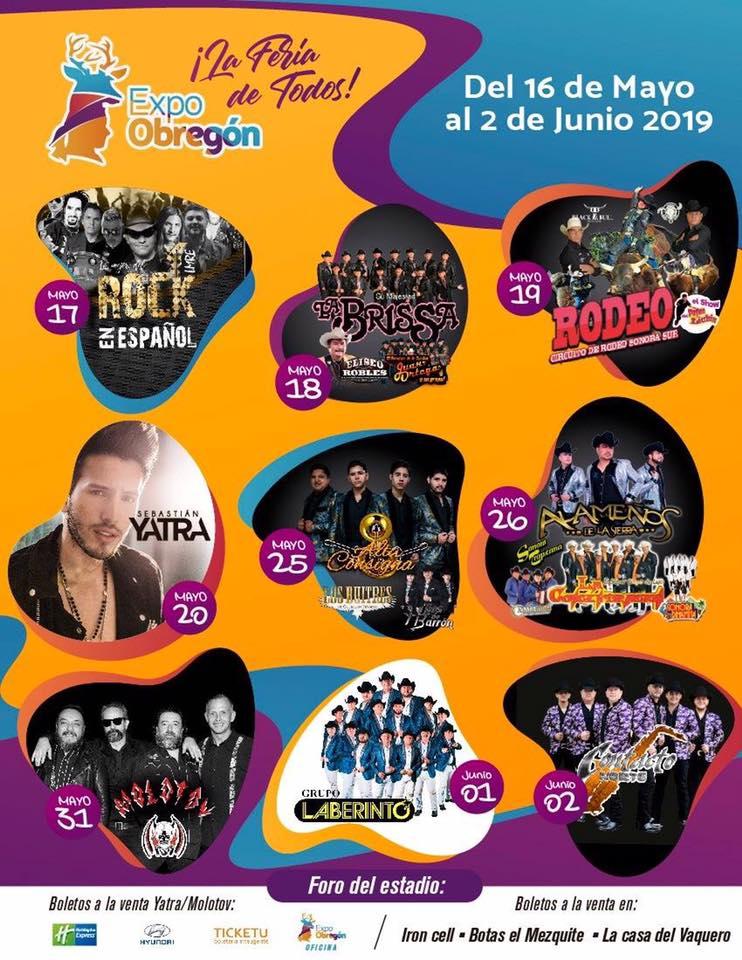 Elenco Foro del Estadio Expo Obregon 2019