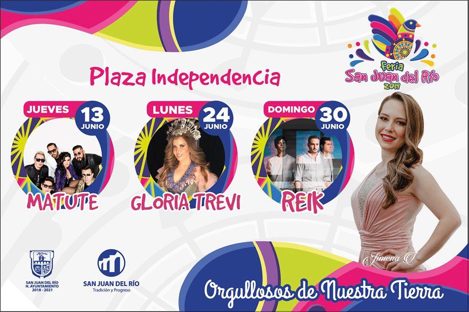 Elenco Plaza Independencia Feria San Juan del Rio 2019