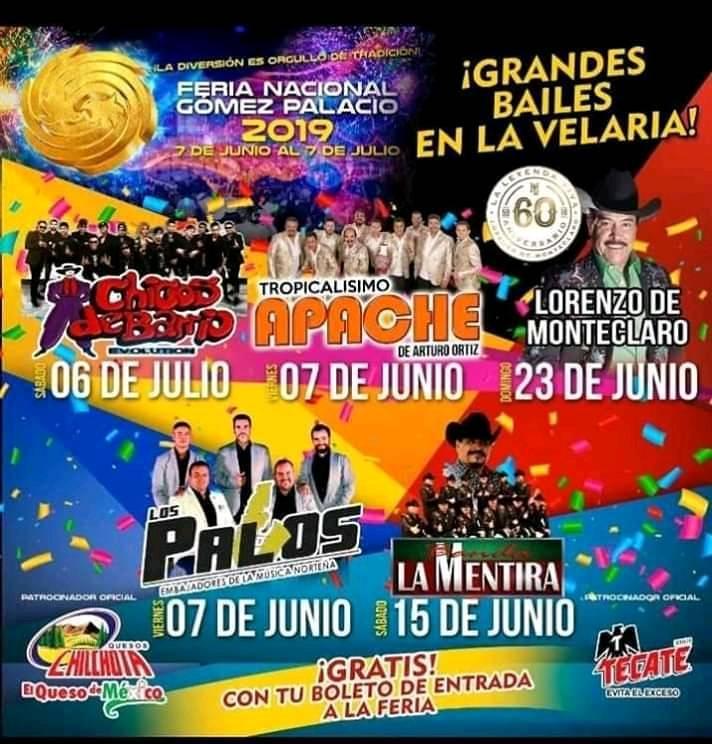 Velaria de la Feria Gomez Palacio 2019
