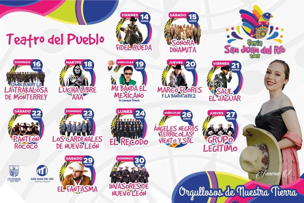 Programa Teatro del Pueblo Feria San Juan del Rio 2019