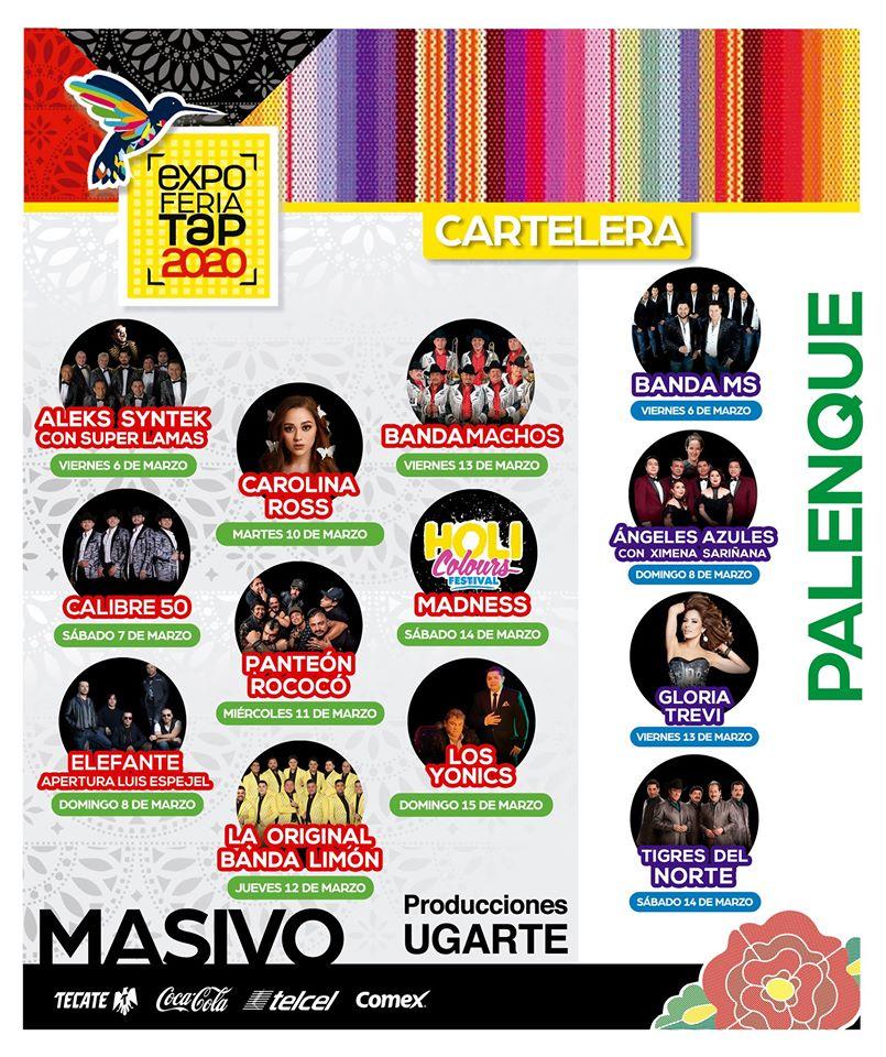 Cartelera Expo Feria Tapachula 2020