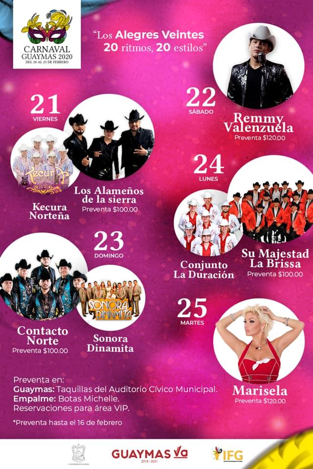 Programa Carnaval de Guaymas 2020